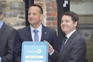 Minister Varadkar and Minister Donohoe at MyGovID launch