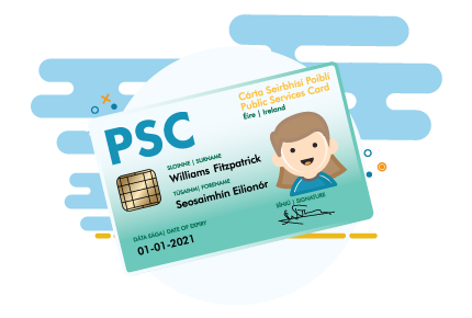 Cartoon Image of the Public Services Card